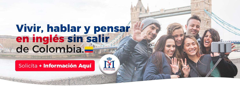Banner vivir hablar pensar en ingles st marys college colombia