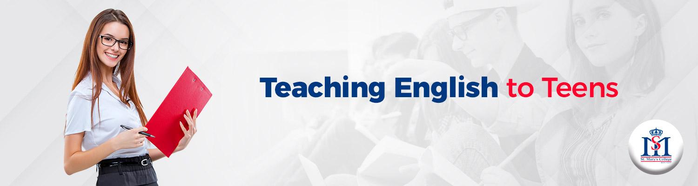 Banner teaching english to teens