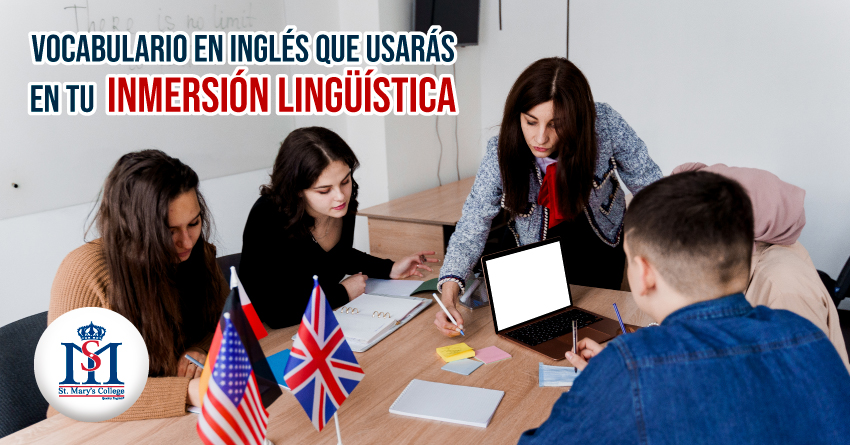 img vocabulario en ingles que usaras en tu inmersion lingüística